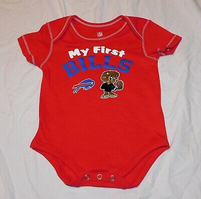 New Baby Buffalo Bills One Piece Player NFL Sizes 3-6 /& 18 M Gray Football