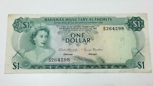 Bahamas-1-One-Dollar-Bahamas-Monetary-Authority-Banknote-E410