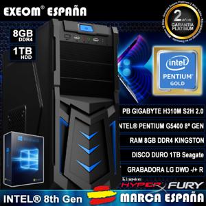 Ordenador-Gaming-Pc-Intel-G5400-8Th-Gen-8GB-1TB-USB3-0-HDMI-De-Sobremesa-Windows