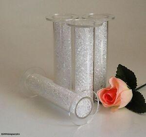 4-cristal-clair-rempli-Gateau-Acrylique-Piliers-Mariage-3-034