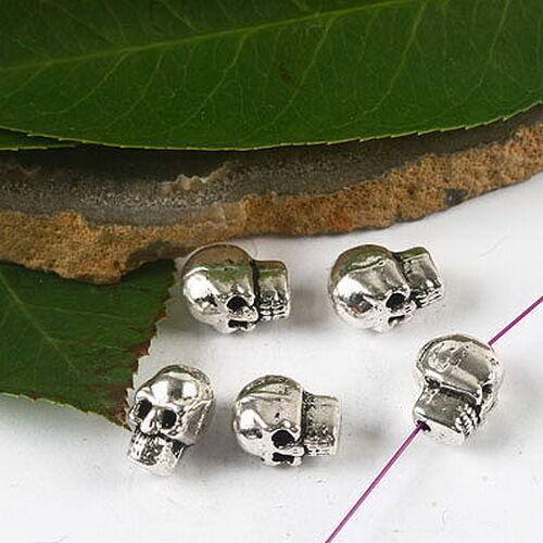 20pcs Tibetan silver skull head spacer beads h2603