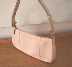 8091e09ee5b69 Das Bild wird geladen Lamarthe-Tasche-schoene-Handtasche-Leder -hellbeige-100-Original