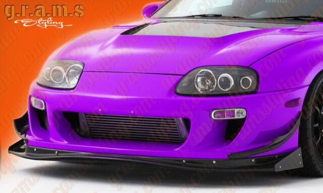 Toyota Supra Carbon Fibre Ridox Style Front Splitter Lip End Plates Aero V6