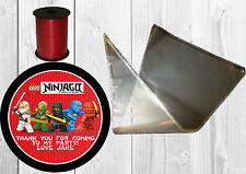 10 x Personalised LARGE Lego Ninjago Sweet Cones, Thank You, Party Bags.