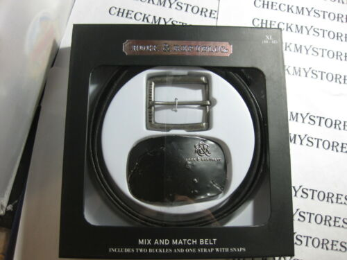 NWT NEW Rock /& Republic Mix and Match Belt PREMIUM LEATHER 2 BUCKLES ONE BELT