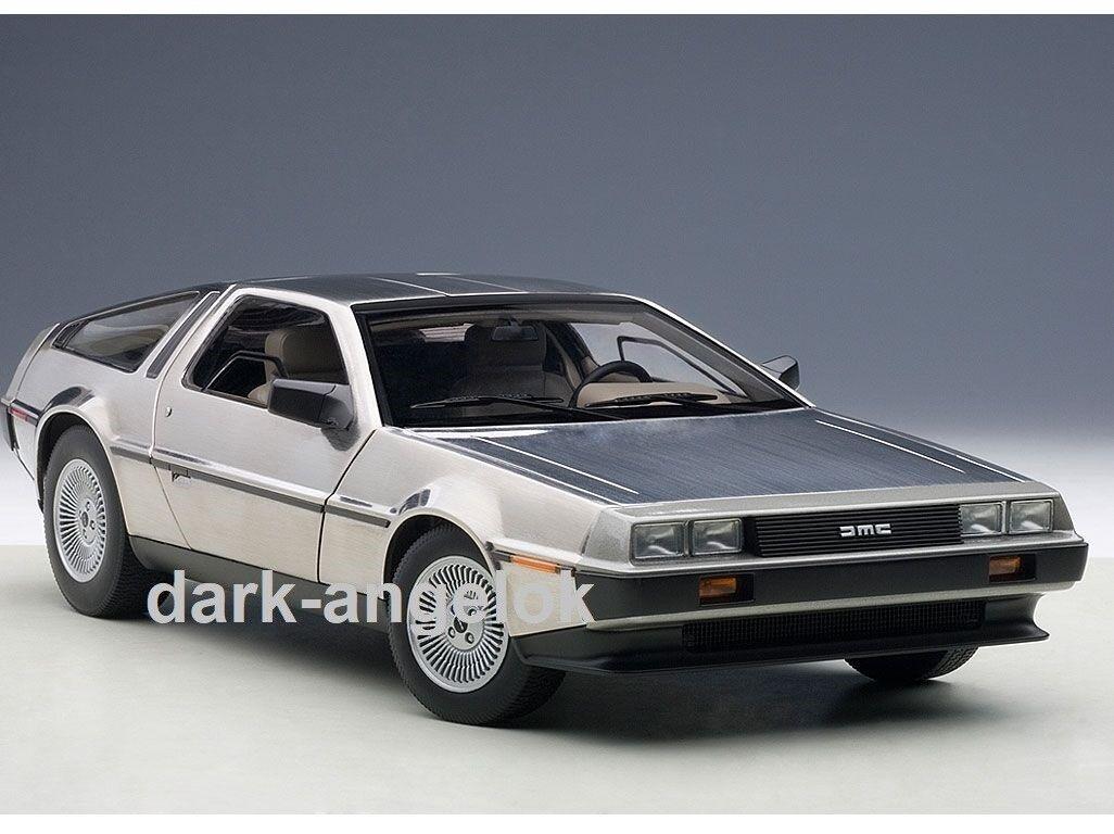 1 18 Autoart DeLorean dmc-12 Satin Finish 1981, NOUVEAU & NEUF dans sa boîte, 79911 LIMITED RARE