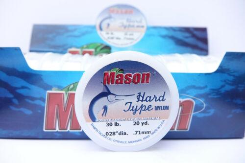 Mono 30 lb 13,6 KG Ø 0,71 mm Superspule 23 Meter MASON Hard