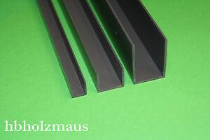 Favorit 2,59 €/m ) PVC U-Profil 13 x 15 x 1,5 mm Grau - Länge wählbar | eBay XU53
