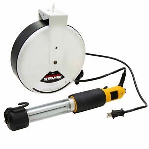 Steelman Compact Fluorescent Work Light with Retractable 40-Foot Cord and Reel