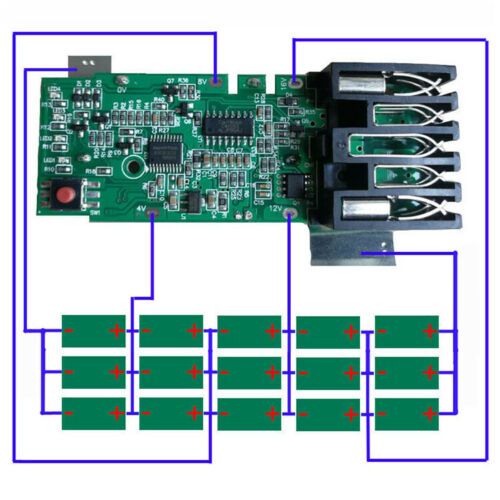 Für Milwaukee 18V Li-ion Battery M18 PCB Board Charging Protection Circuit Board