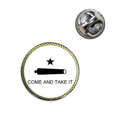 Texas State Flag Come and Take it Lapel Hat Tie Pin Tack