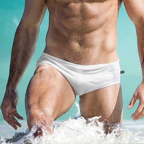 Fashion Hommes respirant caleçons Pantalon Plage Couleur Unie Course Natation Sous-vêtements