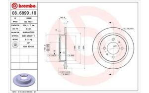 BREMBO-Juego-de-2-discos-freno-234mm-NISSAN-ALMERA-SUNNY-100-08-6899-10