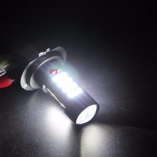 Combo 2 Pair H7 Samsung LED Chip 42 SMD Xenon White 6K Light Bulb For HONDA Bike