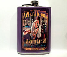 After Hours Scotch Whiskey Liquor Flasks 8oz Stainless Steel Flask Pin Up Girl