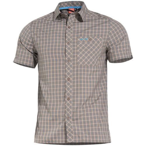 Pentagon Scout Shirt Short Sleeve Mens Casual Hiking Outdoor Travel TB Checks