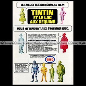 ESSO-Station-Service-amp-Figurines-TINTIN-Herge-Kuifje-1973-Pub-Publicite-Ad-A825