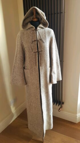 Hood Beige Wool Long M Coat Size Line Zara Uk Cape 10 Herringbone With 12 Cream 1XzwntxFq
