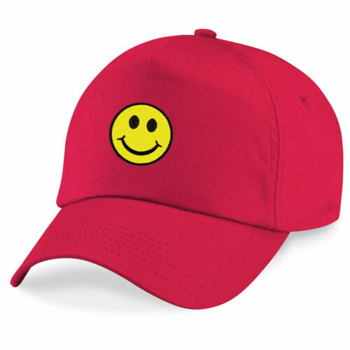 Smiley Face Cute Happy Funny Embroidered Hat 4 Colors