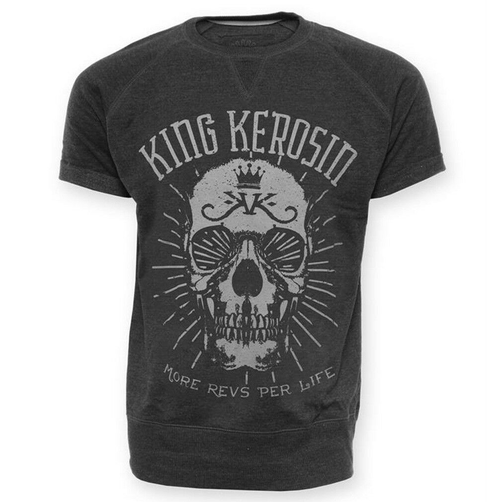 King Kerosin T-Shirt   Sweatshirt - MRPL Skull Dunkelgrey