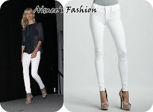 Details about NEXT WHITE SKINNY JEANS LADIES STRETCH REGULAR AND LONG