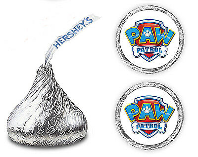 108 PAW PATROL BIRTHDAY PARTY KISSES LABELS  FAVORS STICKERS