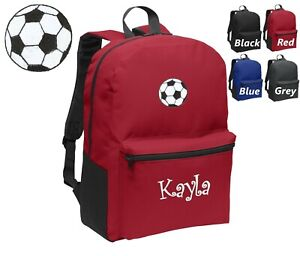 511890b1d6e4 Details about Personalized Kids Backpack Embroidered Soccer Ball  Monogrammed with Name