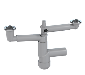 VIEGA-Röhrengeruchverschluss 1 1//2 Zoll mit Ablaufbogen 45° und Geräteanschluss