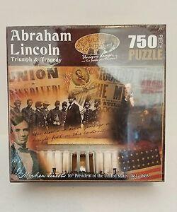 "Abraham Lincoln ""Triumph & Tragedy"" 750 Piece Jigsaw Puzzle (NEW)"
