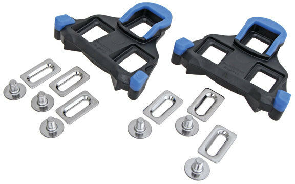 Shimano SH12 SPD-SL 3-Hole Road Cleat Cleats Set Blue - 2 Degree Float