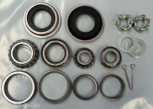 MARINE-TRAILER-WHEEL-BEARING-amp-AXLE-NUT-WASHER-KIT-X-2-SUIT-HOLDEN-BOAT-PAIR