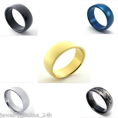 Men's Stainless Steel Biker Black Gold Blue Silver Ring Optional US7-15 Jewelry