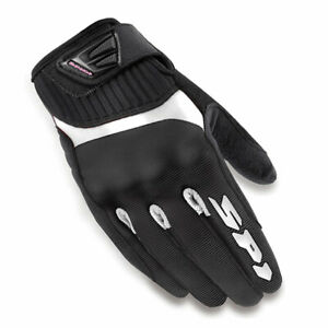 Spidi-G-Flash-Ladies-Motorbike-Motorcycle-Textile-Gloves-Black-White