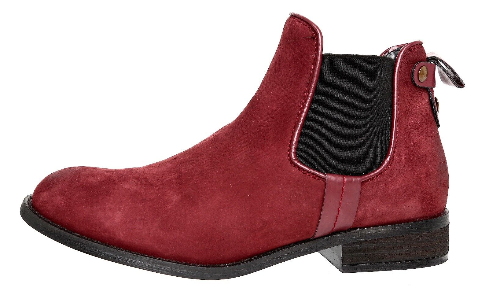 Steve Madden Gilte Chelsea Leather Boot Burgundy Women Sz 7.5 M 4066
