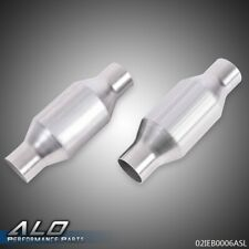 2pcs 225 Inlet Fit For Universal Catalytic Converter High Flow Exhaust Pipe