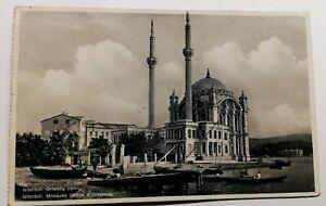 559-Antica-Cartolina-Istanbul-Moschea-Lavoro-di-Ortakeuy