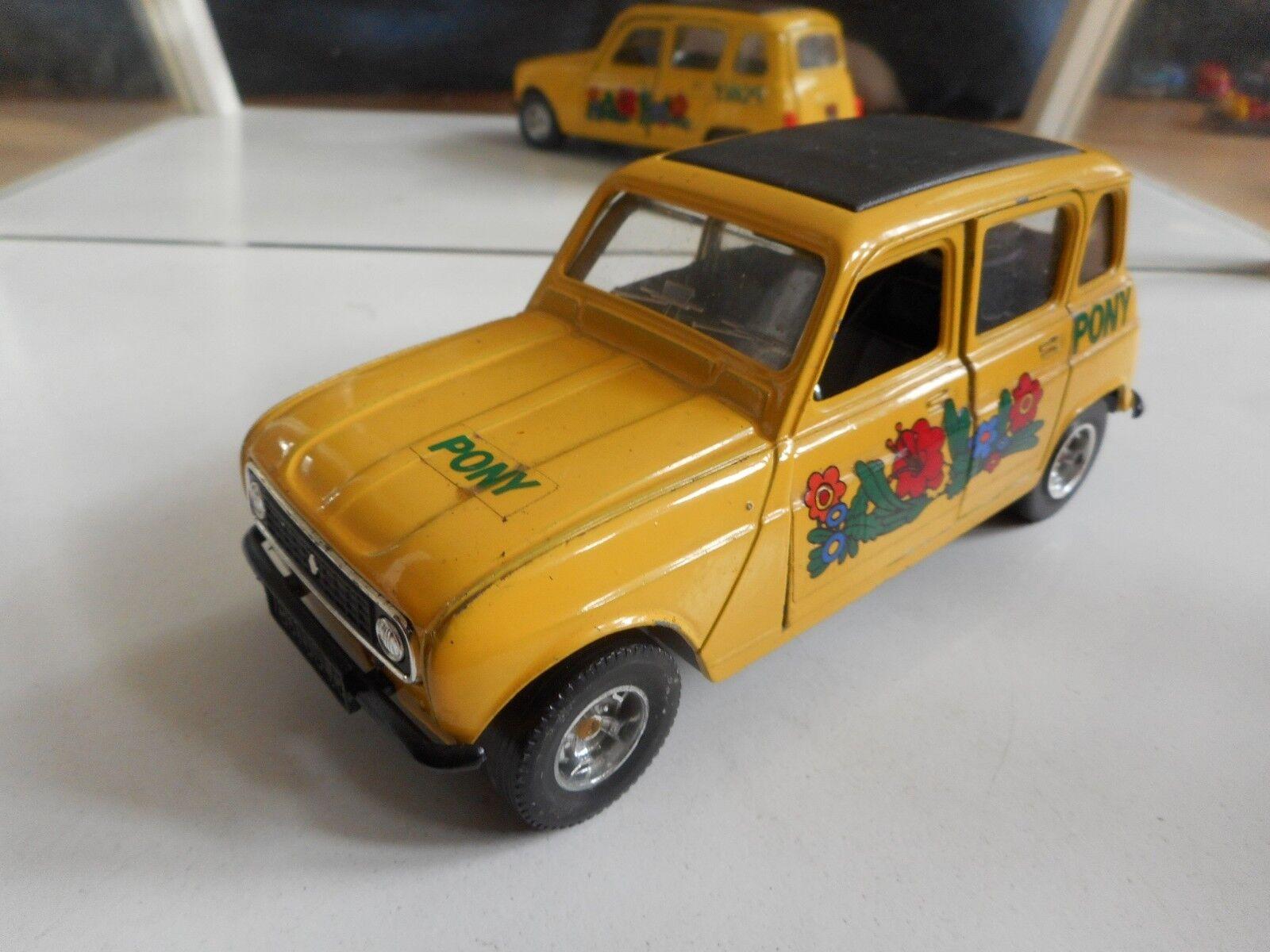 Bburago Burago Renault 4  Pony  in Light giallo on 1 24