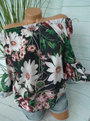 NEU S bis XXL Floral gemustert 943 Hailys Bluse Damen Modell Lorren Gr