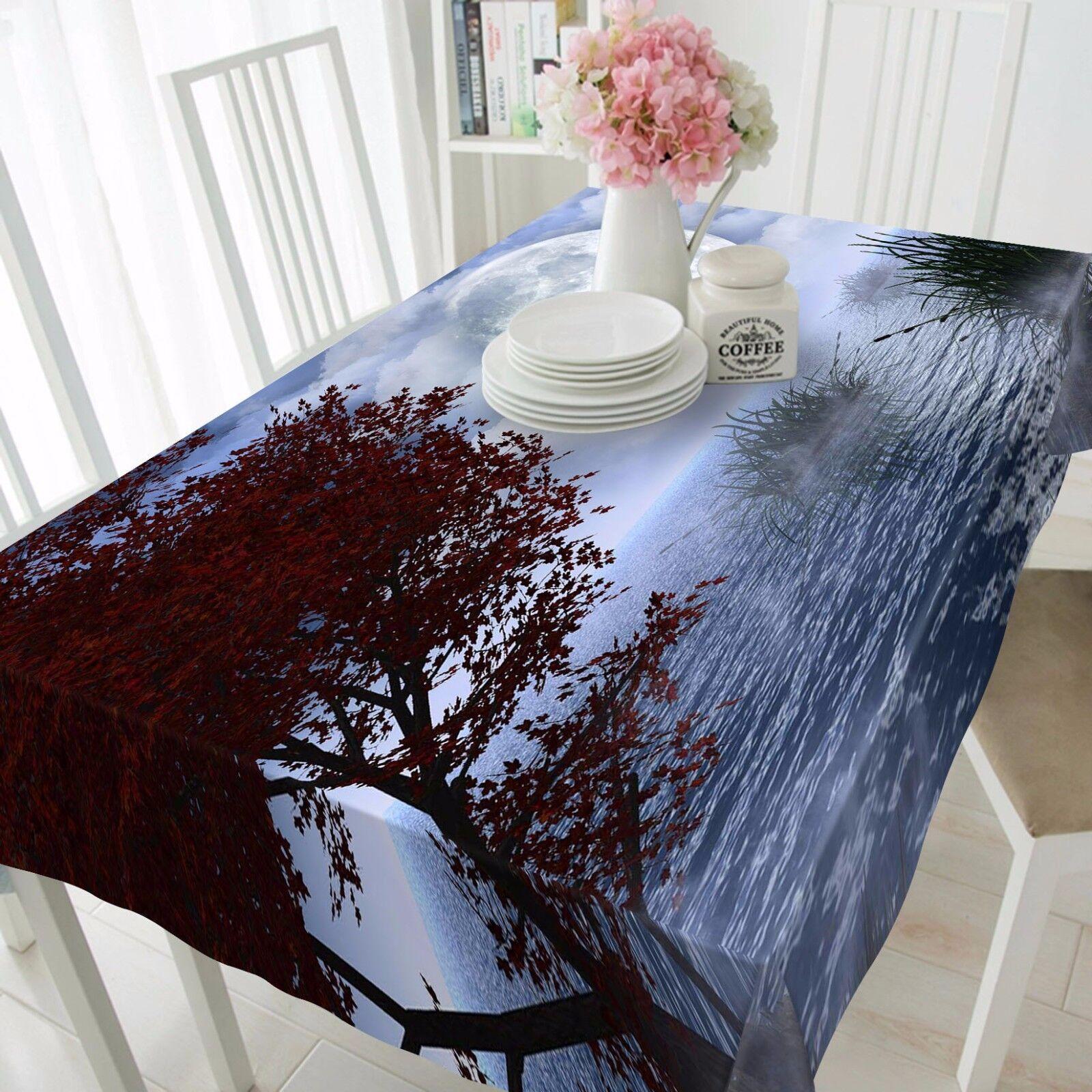 3D Planet 6 Tablecloth Table Cover Cloth Birthday Party AJ WALLPAPER UK Lemon
