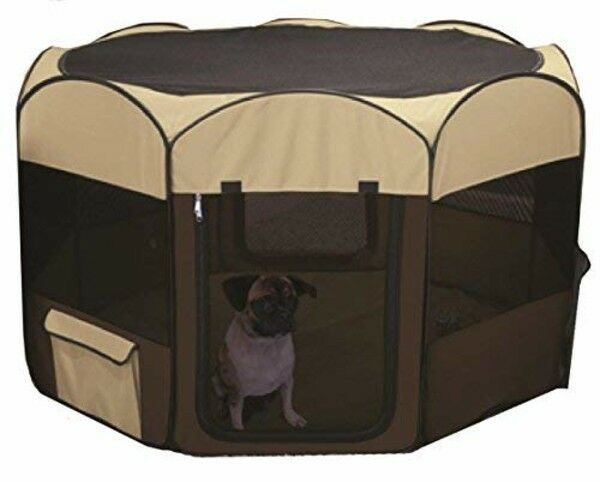 Deluxe Pop Up Playpen Large Tan