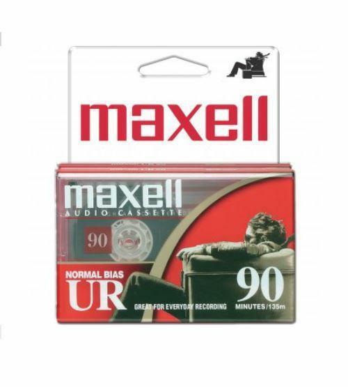 Maxell 2 PACK Normal Bias Type I EQ Blank Cassette Tape UR90 Recording US Seller