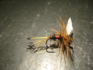 6 Size 18 DARK CAHILL PREMIUM LIGAS FLY FISHING FLIES