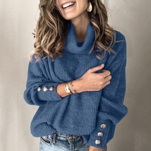 Sweater Pullover Long Sleeve Women/'s Top Sweater Turtleneck Knit Fall Winter