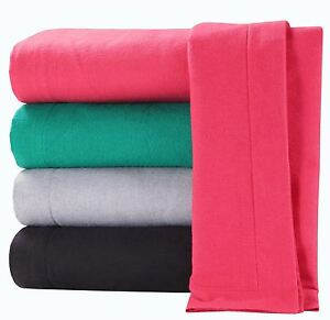 100-Pure-Brushed-Cotton-Flannelette-Flat-Sheet-Thermal-Bed-Sheets-All-Sizes