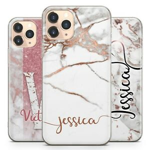 Initials Phone Case Personalised Marble