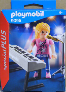 Playmobil-Special-Plus-9095-Saengerin-am-Keyboard-Piano-Mikrofon-NEU-NEU