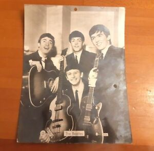 Vintage Black and white photograph of the Beatles sp584 star With dedication