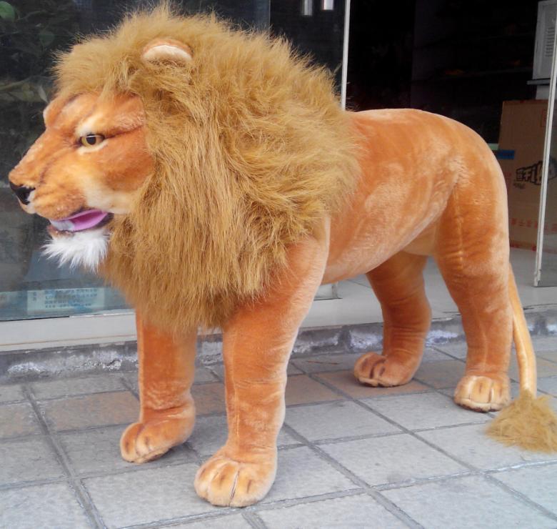 125cm*60cm Lion Plush Giant Simulation Soft Big Ride Lion Toys Kid Gift Birthday