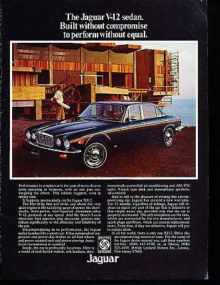 Classic Vintage Advertisement Ad D82 1976 Jaguar XJS S-Type Unleash