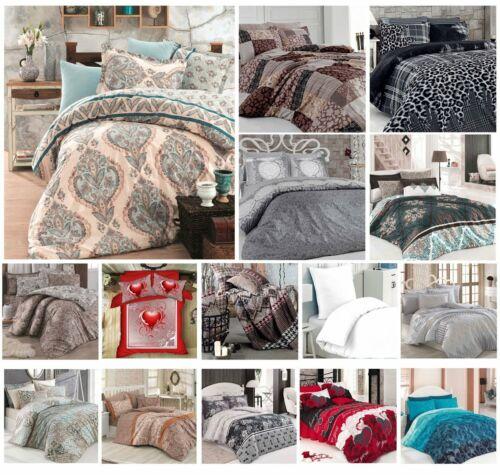 Bettwäsche 135x200 cm Bettgarnitur Bettbezug Baumwolle Kissen Decke 6 tlg VAR #4